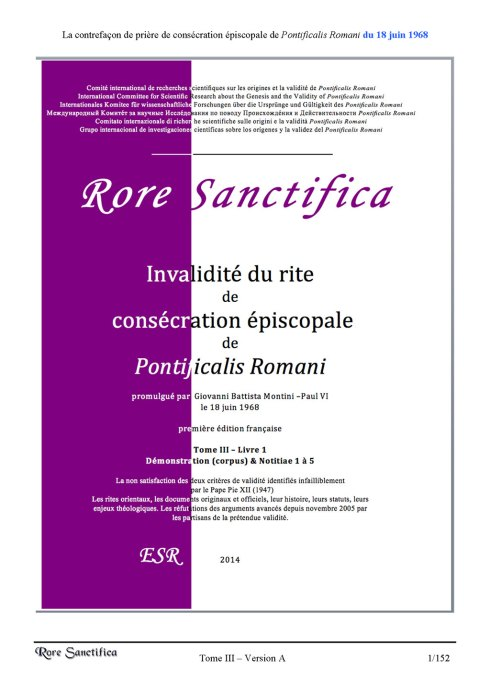 Pages 1 de Rore Sanctifica, Tome3, Volume 1