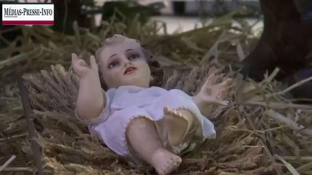 Le Petit Jésus de la crèche de Noël du Parlement Européen de Bruxelles