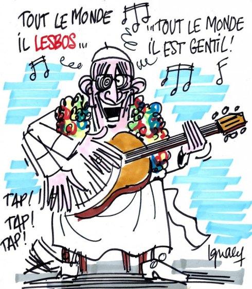 L'antipape Bergoglio-de-Lesbos