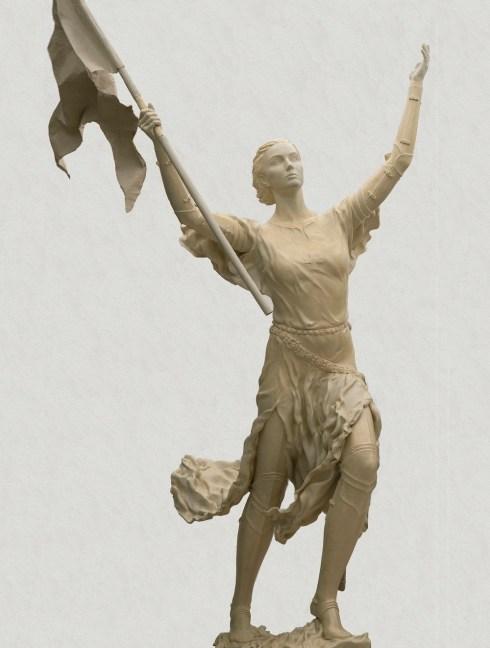 La statue de Sainte Jeanne d'Arc à Saint Pétersbourg