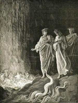 Vision du purgatoire par Gustave Dore