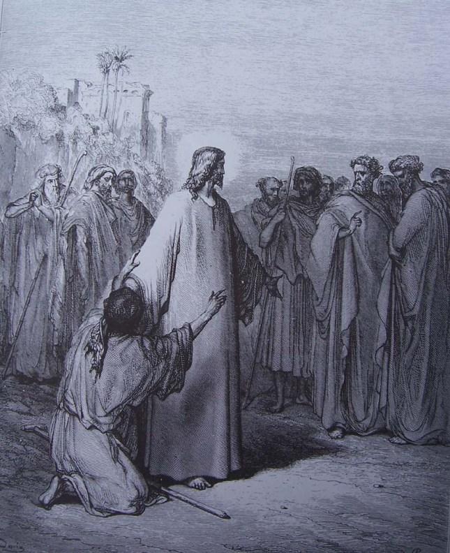 Jésus guérit un muet possédé du démon, Gustave Doré