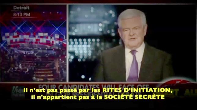 Newt Gingrich parle de Donald Trump
