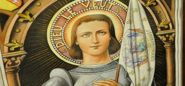 La croix présentée à Jeanne d'Arc sur son bûcher