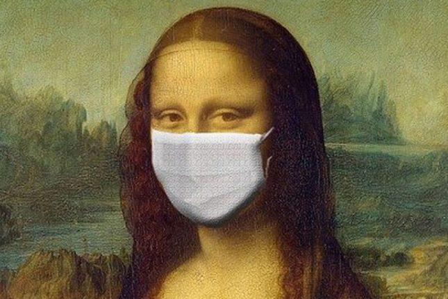 CORONAVIRUS : Au Louvre, la Joconde décide, elle aussi, de porter un masque pour se protéger de l'infection