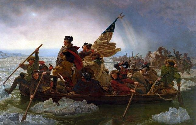 Washington traversant le Delaware dans la nuit du 25 au 26 décembre 1776