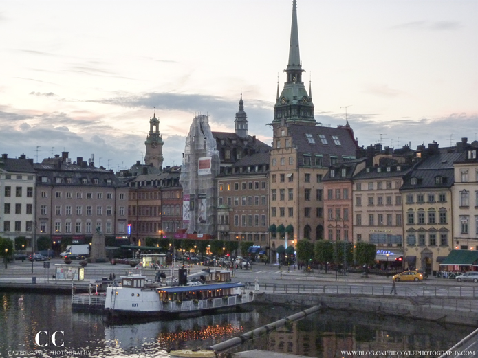 Stockholm Old Town at night by Cattie Coyle Photography