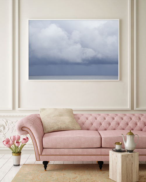 How To Size Art For A Wall: Summer Storm No 2 above couch by Cattie Coyle Photography