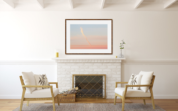 How To Size Art For A Wall: Twisted Cloud No 2 above fireplace by Cattie Coyle Photography
