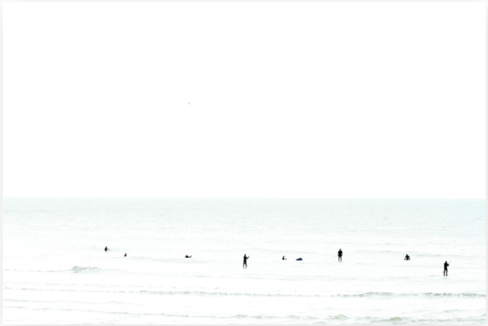 Waiting No 1 - Minimalist Surf Photography Print by Cattie Coyle Photography