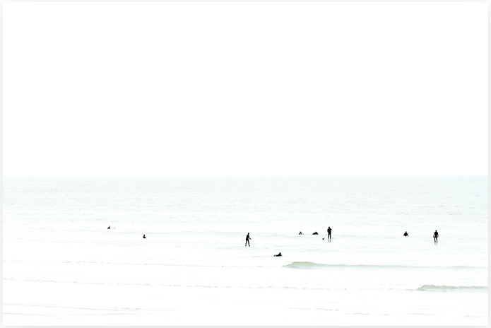 Waiting No 4 - Minimalist Surf Art by Cattie Coyle Photography