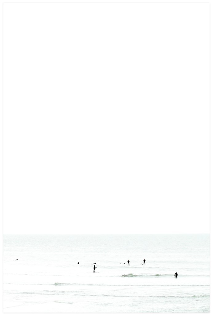 Waiting No 5 - Large Minimalist Surfer Wall Decor by Cattie Coyle Photography