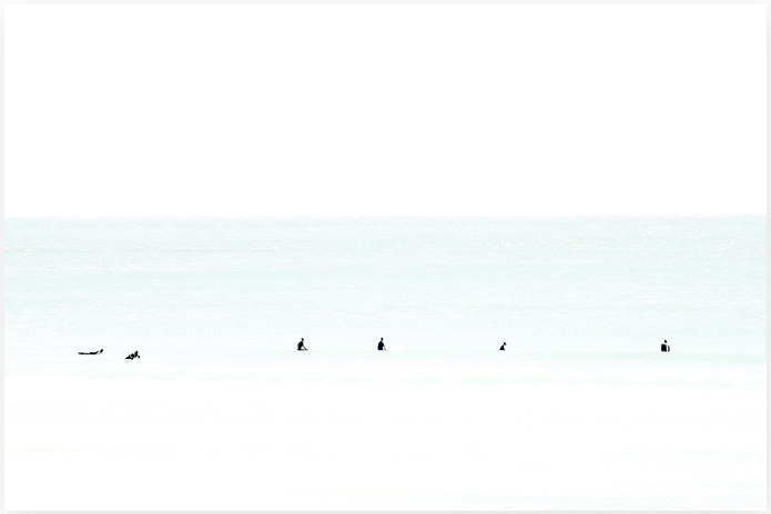 Waiting No 7 - Minimalist Surfing Photography Art Print by Cattie Coyle Photography