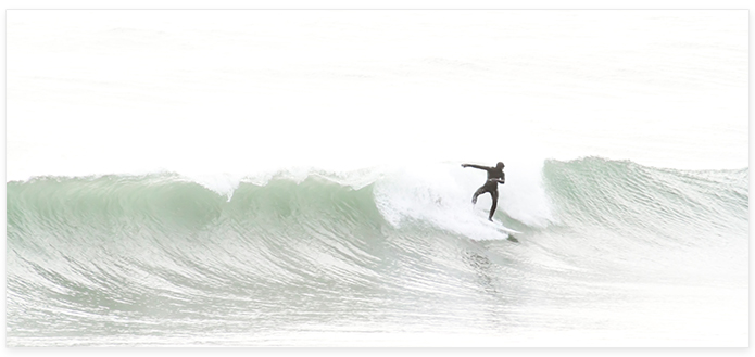 Surfing No 5 Panoramic - Surf photography by Cattie Coyle