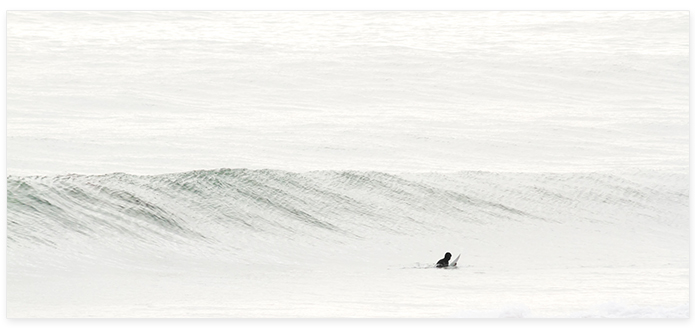 Surfing No 9 Panoramic - Surf photography by Cattie Coyle
