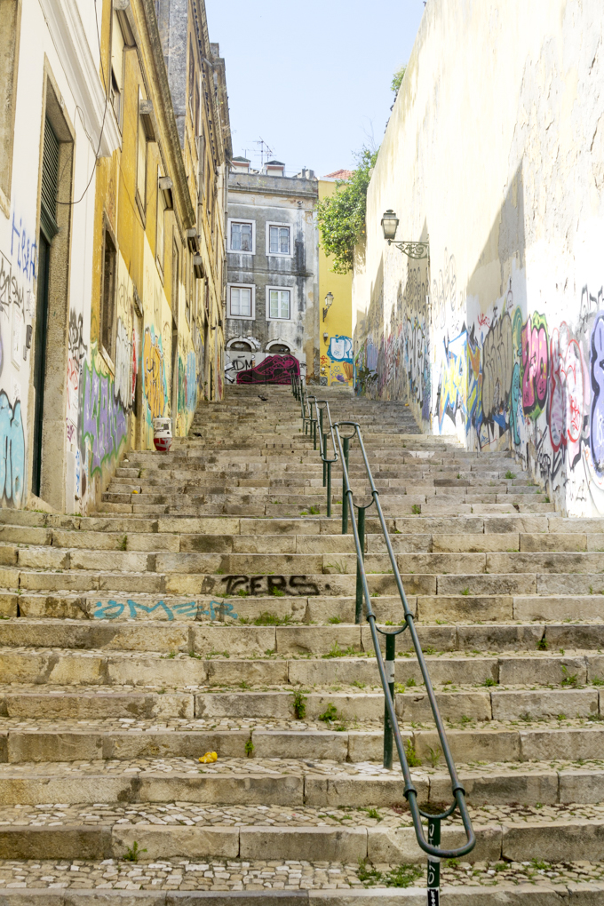 Lisbon stairs by Cattie Coyle Photography