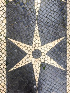 Sidewalk tiles in Lisbon by Cattie Coyle Photography