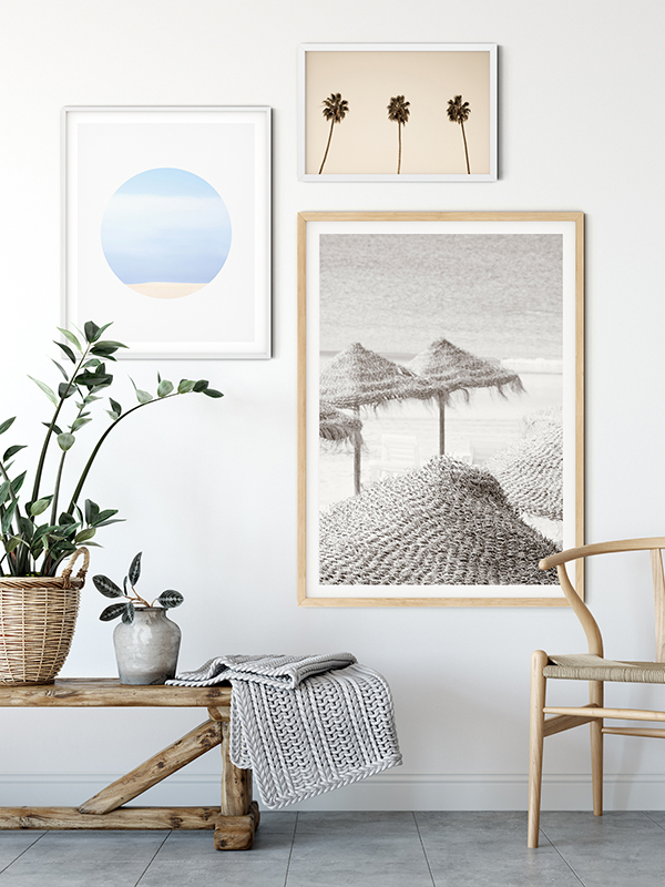 Beach Days No 5 - Beach house gallery wall decor by Cattie Coyle Photography