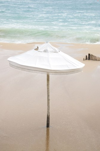 Umbrella No 1 - Beach photography fine art print by Cattie Coyle