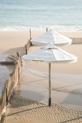 Beach Umbrellas No 1 - Beach photography fine art print by Cattie Coyle
