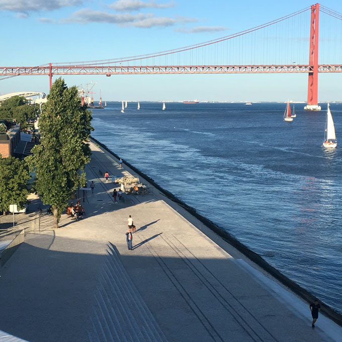 Lisbon Portugal View From Maat Museum Roof