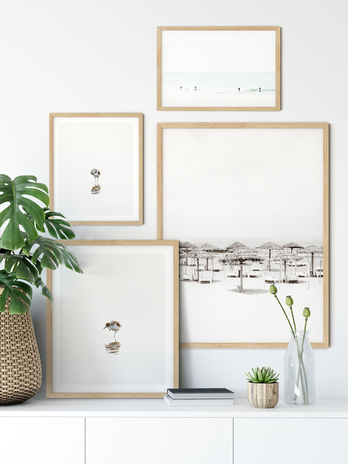 Buying Art Online: Black and white picture gallery wall by Cattie Coyle Photography