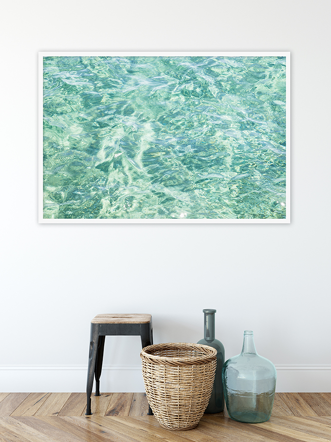 Abstract Water No 8 - Oversized coastal wall art by Cattie Coyle Photography