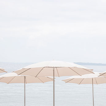 French Riviera No. 8 - Beach umbrellas by Cattie Coyle Photography fi