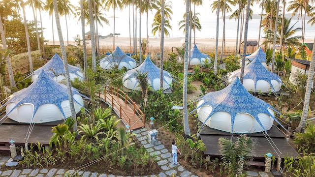 Nacpan Beach Glamping【フィリピンの人気グランピング施設10選】気軽に贅沢キャンプ!