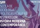 Candidaturas para o Mestrado em História Moderna e Contemporânea