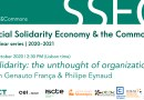 22 OCT   #SSE&Commons   Solidarity: the unthought of organization?