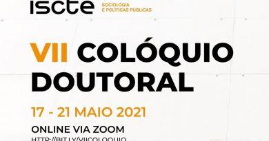 17-21 MAIO | Colóquio Doutoral da Escola de Sociologia e Políticas Públicas(ESPP)