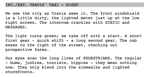 production primer taxi driver