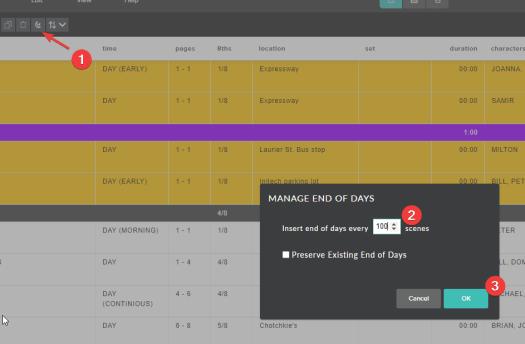 Celtx Shooting Schedule