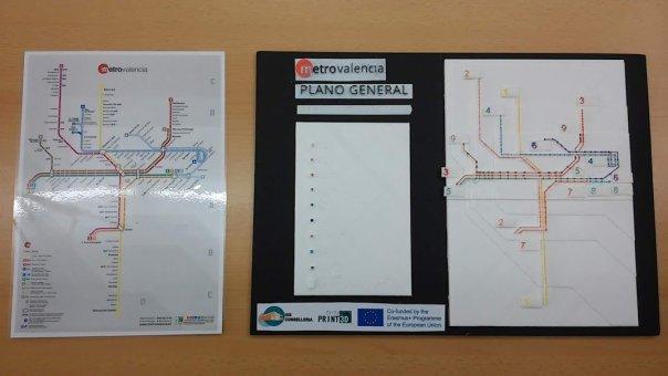 Fotografía del plano general táctil elaborado junto al plano en papel.