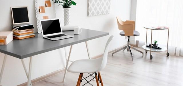 escritorio de trabajo en departamento