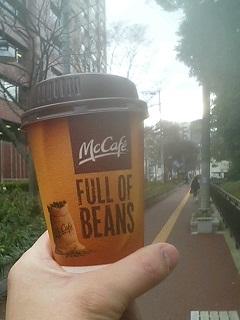 マクドナルドのコーヒー(S) 120円