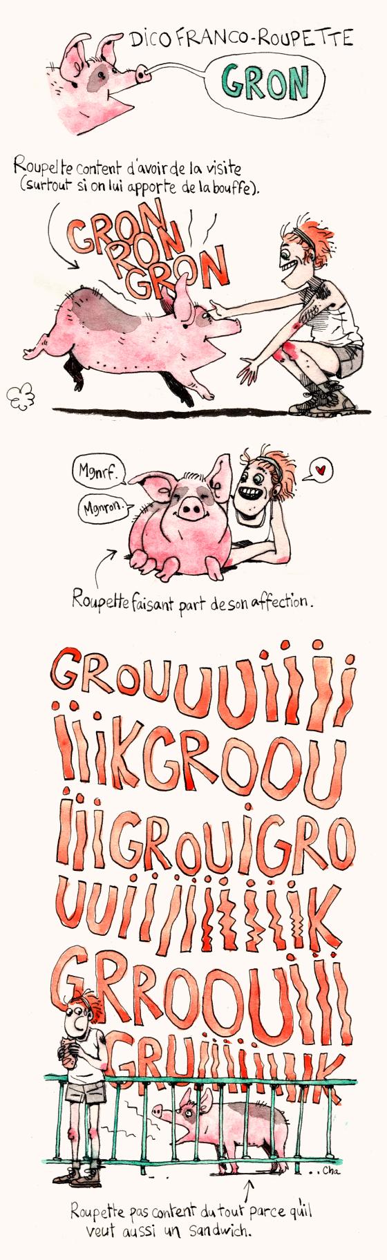 Dico franco-roupette le cochon