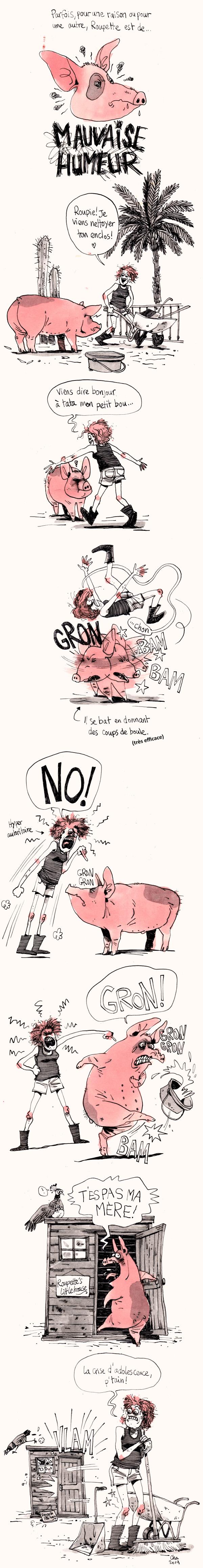 Roupette le cochon - mauvaise humeur
