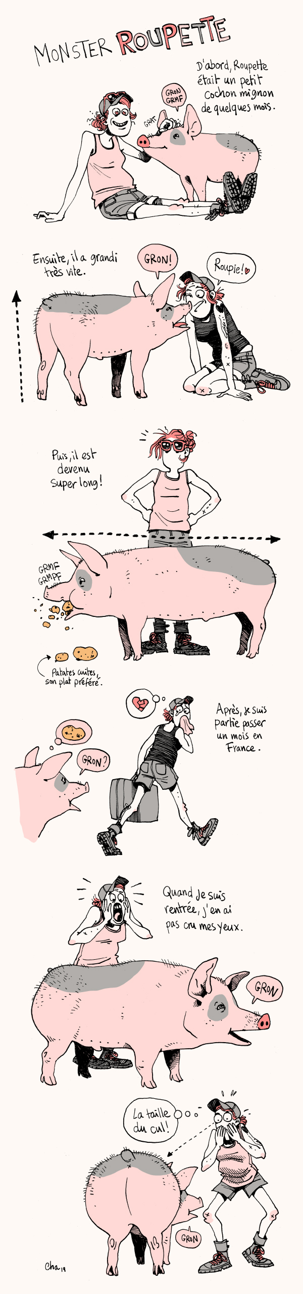 Monster Roupette the pig the cochon