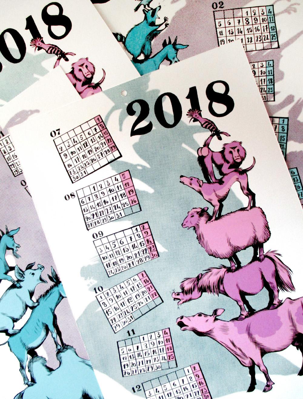 calendrier Tipeee 2018
