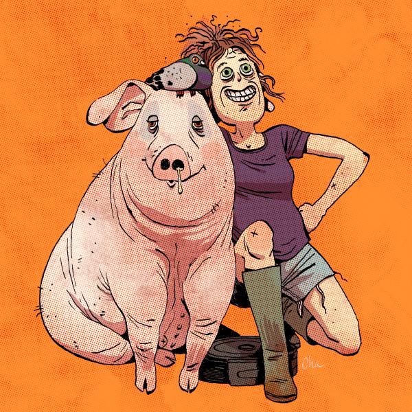 Roupette le cochon, Iker le pigeon