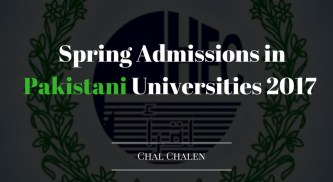 Spring Admissions in Pakistani Universities 2017