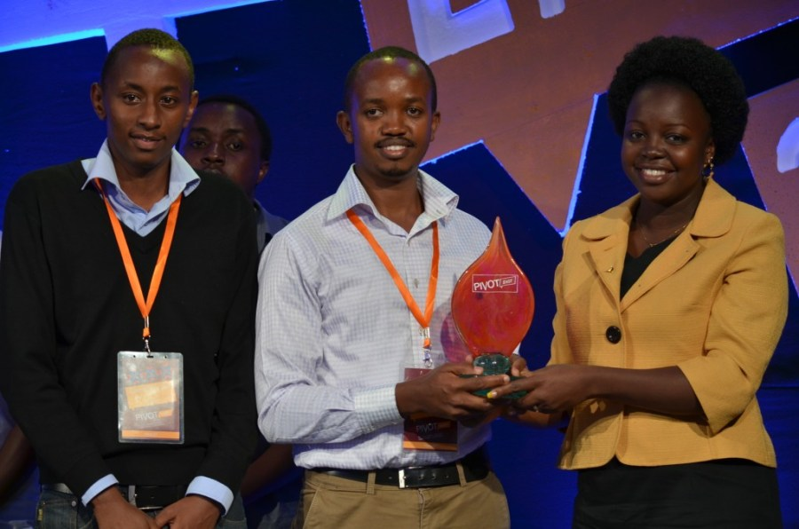 Edwin Njoroge, Martin Njuguna and Lilian Kiplagat from Chase Bank at Pivot East Award Ceremony