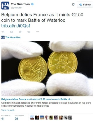 tweet - The end of an era for Belgium's Royal Mint