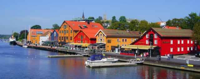 Tønsberg en Noruega una de las ciudades más antiguas de Europa