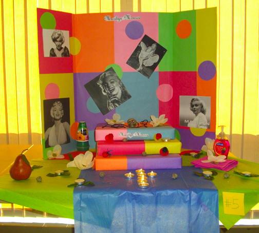 Day of the Dead altar to Marilyn Monroe, CSU-Pueblo