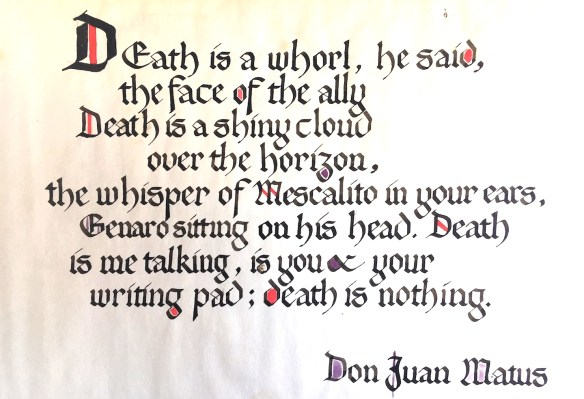 Death is a whorl, he said.