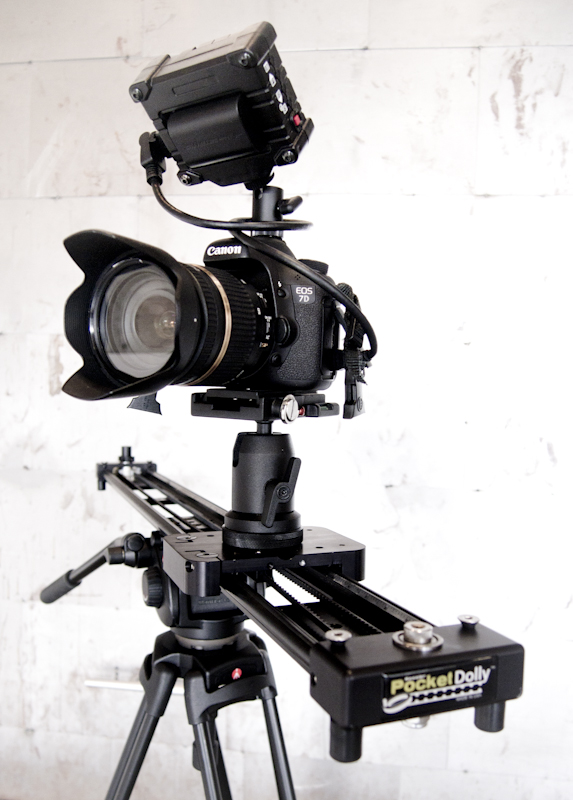 Kessler Pocket Dolly and Zacuto EVF