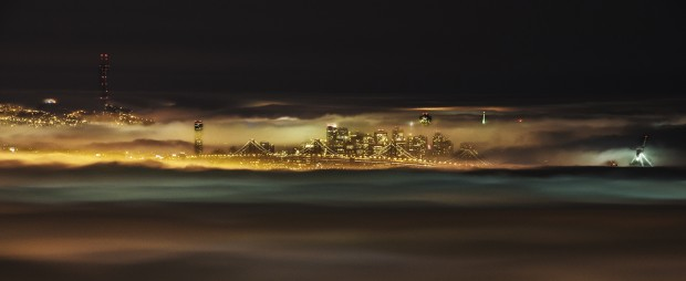 Fog-shrouded Bay Area. Shot with the Nikon 70-200 f.2.8 VRII © Sohail Mamdani